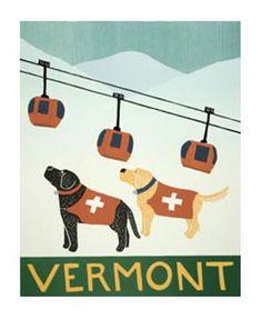 ski vermont poster - Google Search