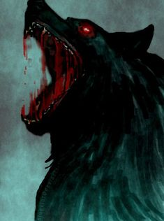 Fenrir the wolf of Norse mythology and vikings learn this - Anime Wolf Dark Fantasy Art, Fantasy Kunst, Dark Art, Anime Wolf, Fenrir Tattoo, Art Noir, Werewolf Art, Arte Obscura, Vampires And Werewolves