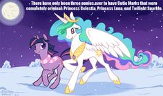 Only luna's is original twighlights comes from star song G 3 and celestia's is from sunny dayz except they are modified