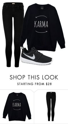 """Sin título #757"" by brenda-199 ❤ liked on Polyvore featuring True Religion and NIKE"