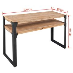 vidaXL Τραπέζι Κονσόλα 120 x 40 x 85 εκ. από Μασίφ Ξύλο Ακακίας