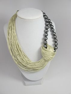 Sale Was 44 Linen Necklace natural Linen necklace Organic