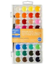 Artist's Loft Fundamentals Watercolor Pan Set #ArtistsLoft