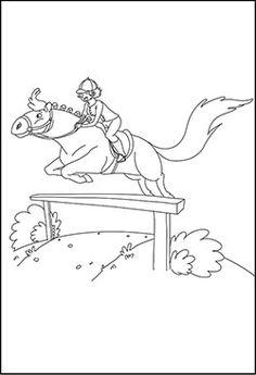 Springreiten Mit Reiter Malvorlage Malvorlagen Pferde Pferde Springen Ausmalen