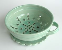 Berry Bowl  Green  Large by vesselsandwares on Etsy