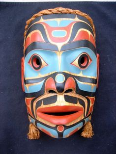 Northwest Coast First Nations SUPERB Art carving Warrior Mask by John Livingston