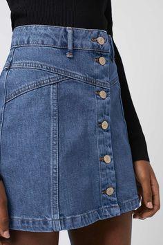 PETITE Button Through Skirt