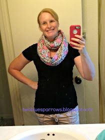 Two Blue Sparrows: Crafty Chick: DIY Nursing Cover/ Infinity Scarf