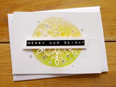 merry and bright card, by Agnieszka