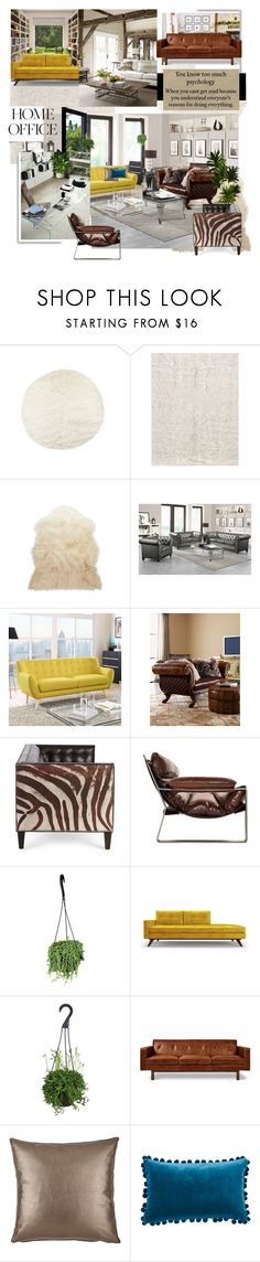 """""""Home Office: Show me a sane man and I will cure him for you."""" - Carl Jung"""" by iriadna ❤ liked on Polyvore featuring interior, interiors, interior design, home, home decor, interior decorating, Natural by Lifestyle Group, Post-It, Alexander and Nordstrom"""