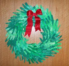fingerpaint wreath
