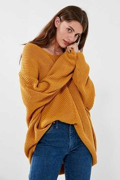 BDG Harper Knit High/Low Sweater