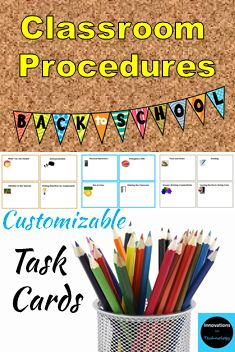 These fully editable and customizable cards in Microsoft PowerPoint can be used in a variety of ways in your classroom to help teach and reinforce your classroom procedures. They are appropriate for upper elementary through high school.  https://www.teacherspayteachers.com/Product/Classroom-Procedures-Task-Cards-Back-to-School-2695522