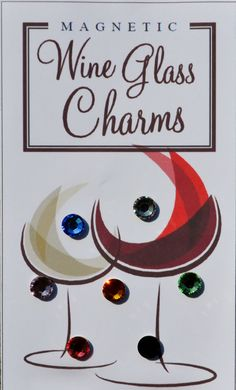 Magnetic Wine / Cocktail glass Charms by WineGlassDazzle on Etsy, $14.99