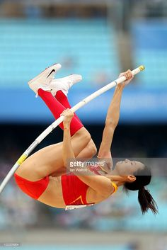 Ling Li of China competes in the women's pole vault qualification round during day two of the 13th IAAF World Athletics Championships at the Daegu Stadium on August 28, 2011 in Daegu, South Korea.