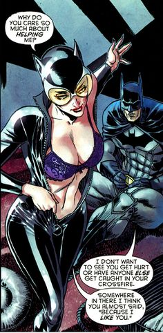The new 52 Catwoman and Batman