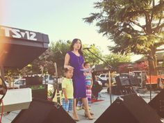 ABC30's Christine Park kicking off Fig Gig at Fig Garden Village.  Christine was joined on stage by her two adorable children!