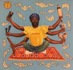 line the painter tumblr.com - L.S.P. Reggae Art, Afro, Black Girl Cartoon, Stoner Art, Cat Aesthetic, Cool Posters, Concert Posters, Figure Painting, Figurative Art