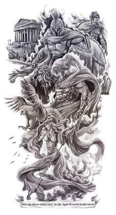 Greek Art Tattoo Mythology 43 Ideas For 2019 Gott Tattoos, Bild Tattoos, Leg Tattoos, Body Art Tattoos, Sleeve Tattoos, Tatoos, Tattoo Forearm, Future Tattoos, Tattoos For Guys