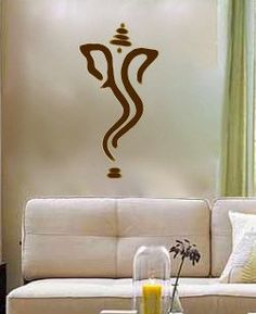 Abstract Ganesh vinyl Wall DECAL Hindi Hindu India by EyvalDecal