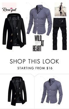 """""""Rosegal 19: For Men"""" by die-ammy ❤ liked on Polyvore featuring men's fashion and menswear"""