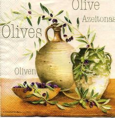 "serviette ""olives en pot"""