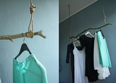 self-made clothes rail