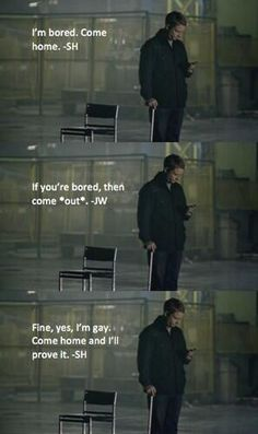 For you JohnLock shippers! #Sherlock BBC #johnlock