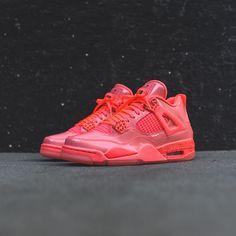 check out a195b dae1a Nike WMNS Air Jordan 4 Retro NRG - Hot Punch   Black   Volt
