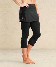 09a0152677b9f ATHLETA Contender 2 in 1 Sz L Skirt Skort Capri Purple Back Pocket  Reflective | eBay