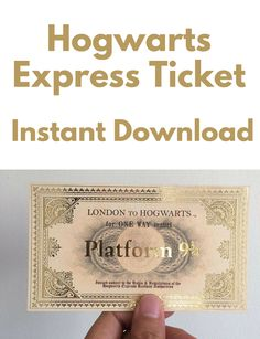 This would be a great party invitation or party favor. This is a neat idea. #etsy #harrypotter #ad #instantdownload #harrypotterfan #printables #hogwarts