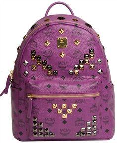 MCM Small M Stud Backpack (Purple)