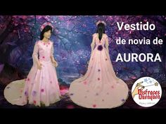 DIY. Disfraz Vestido de novia de AURORA en Maléfica 2. Te muestro paso a paso como hacerlo para niña - YouTube Princesas Disney, Diy, Movie Posters, Youtube, Aurora Costume, Bridal Gowns, Boyfriends, Bricolage, Film Poster