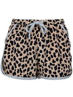 SEA NEW YORK Drawstring Leopard Print Shorts