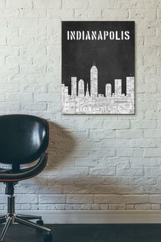 • Title: Indianapolis Skyline, Black and White Map,Chalkboard art, Modern Home Decor • Paper : Heavy Matte (232 gsm) • Sizes: 5 x 7, or 8 x 10,