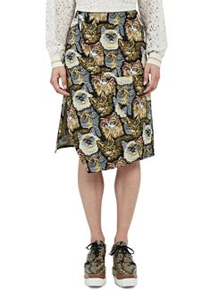 Women's Skirts - Clothing | Order Now at LN-CC - A-Line Cat Embroidered Skirt