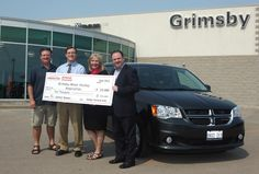 """Congratulations to Scott Hutley from Grimsby, Ontario! Scott is the 2012 Dodge Caravan Kids """"Score + Win"""" grand prize contest winner! Not only will Scott receive an all-new 2012 Dodge Grand Caravan SXT, his local minor hockey association - the Grimsby Minor Hockey Association - will receive a $10,000 donation to be used for hockey development programming and goal tending equipment for the Novice house league teams. Click here to read more! http://on.fb.me/QsuVzi  Learn more about Dodge…"""