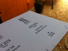 Boza Agency Business cards. 220# Crane Lettra Cool Gray 11 Ink 1/1