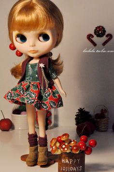 free shipping lovely doll skirt fleece vest christmas set clothes blythe accessories toy wear birthday gift-inDolls Accessories from Toys & Hobbies on Aliexpress.com | Alibaba Group