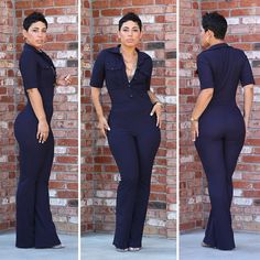 Retro Feel Jumpsuit - Mimi G Style