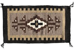Two Grey Hills Navajo Rug, Wall Hanging, or table runner on @One Kings Lane Vintage & Market Finds by Ruby + George