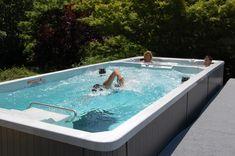 19' Dual Temp Swim Spa with underwater treadmill. Quite