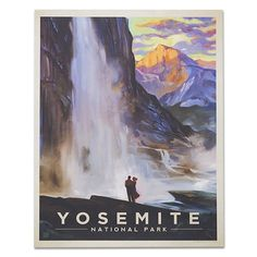 Yosemite National Park: Yosemite Falls - Anderson Design Group has created an award-winning series of classic travel posters that celebrates the history and charm of America American National Parks, National Parks Usa, Yosemite National Park, Posters Wall, Posters Decor, Grand Parc, Yosemite Falls, National Park Posters, Art Nouveau