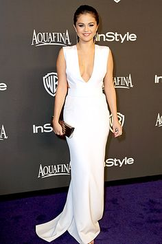 Selena Gomez in KaufmanFranco - Golden Globe Awards 2015, InStyle and Warner Bros afterparty
