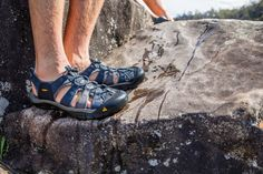 The Keen Men's Newport H2 Sandal is a rugged sandal for adventures that move between water and trail with no time for stopping. In the kayak, out of the kayak, walk up a creek and snap a pic of the hidden waterfall, then turn around and get back in the boat. If your warm weather adventures mimic something like this, then the protective rubber toe and outsole will be like heaven on your feet. No bruised toes due to kicking rocks, stay on your feet at the docks with razor-siped soles.
