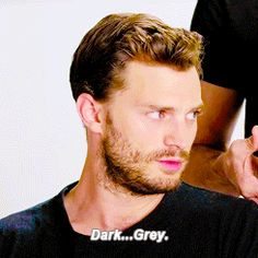 """dailyjenns:""""Can you name any actual shades of grey?""""Requested by…   Jamie Dornan News"""