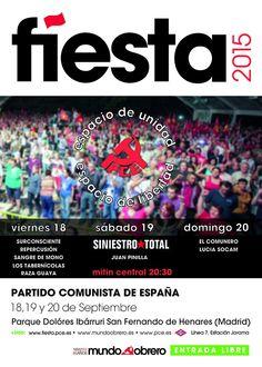 Cartel Fiesta PCE 2015