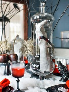 Jarred Parts in 20+ Hip Halloween Decorating Ideas from HGTV