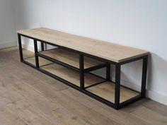 Modern Wooden Furniture, Tv Furniture, Steel Furniture, Industrial Furniture, Furniture Design, Modern Industrial Decor, Furniture Cleaning, Cheap Furniture, Tv Rack Design