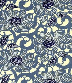Handmade japanese paper - Blue peony from Japanese_Garden by DaWanda.com